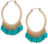 INC International Concepts Robert Rose for Gold-Tone Bead Hoop Earrings, Created for Macy's