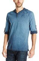 Buffalo David Bitton Men's Nichavs Long Sleeve Hooded Henley Shirt