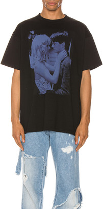 Raf Simons Blue Couple Tee in Black | FWRD