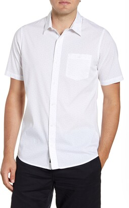 Travis Mathew TravisMathew Open Ending Regular Fit Short Sleeve Button-Up Sport Shirt