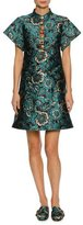 Dolce & Gabbana Floral Lurex® Jacquard A-Line Cocktail Dress, Blue