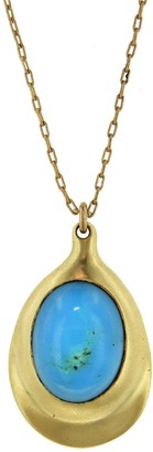 Ten Thousand Things Turquoise Pendant Yellow Gold Necklace