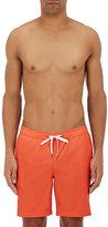 Onia Men's Charles Cotton-Blend Swim Trunks-ORANGE