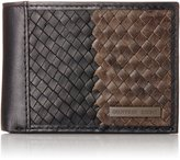 Geoffrey Beene Men's Slim Billfold with Basket Weave Facing