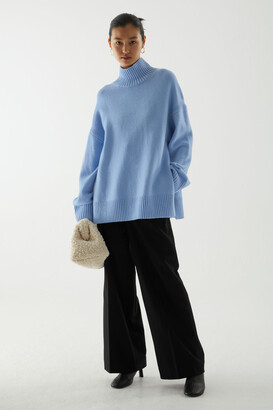 Cos Lambswool Oversized Roll-Neck Jumper