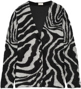 Saint Laurent Oversized mohair-blend cardigan