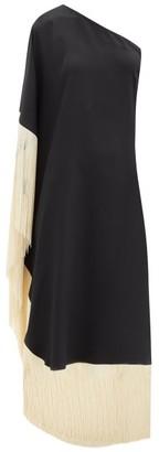 Taller Marmo Piccolo Fringed One-shoulder Dress - Black Multi