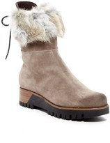 Manas Design Fur Trimmed Suede Boot