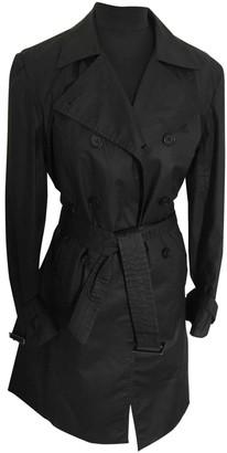 Gerard Darel Black Cotton Trench Coat for Women