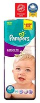 Pampers Active Fit Nappies Size 4+ Large Bag - 50 Nappies