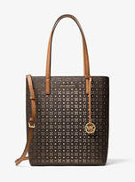 Michael Kors Hayley Large Perforated Logo Tote