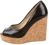 Jimmy Choo Patent Leather Papina Wedges