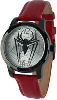 Marvel Mens Spiderman Red Leather Strap Watch