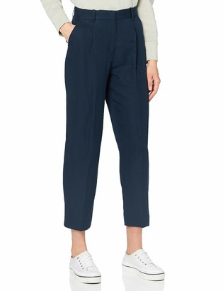 Tommy Hilfiger Women's Linen Tencel Tapered Pant Straight Jeans