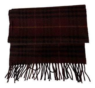 Burberry Brown Wool Scarves & pocket squares