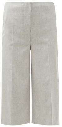 Altuzarra Sam Cropped Straight-leg Trousers - Light Grey