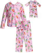 Dollie & Me Girls 4-14 Button Down Top & Bottoms Pajama Set