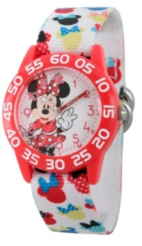 EWatchFactory Disney Minnie Mouse Girls' Red Plastic Time Teacher Watch