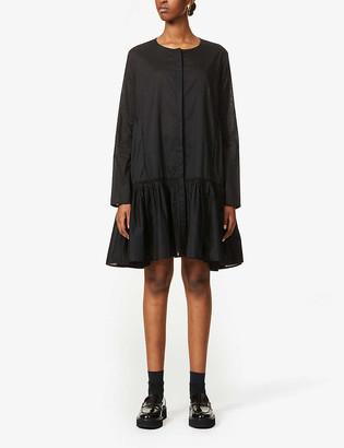 Merlette New York Martel flared-hem cotton mini dress