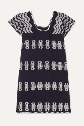 Pippa Holt Kids - Embroidered Cotton Huipil - Navy