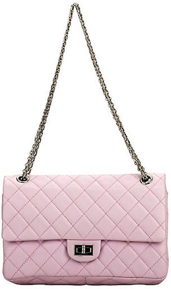 One Kings Lane Vintage Chanel Pink Reissue Medium Double Flap - Vintage Lux - pink/silver