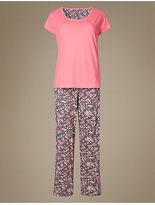 M&S Collection Pure Cotton Ditsy Floral Print Pyjamas