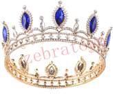 Funi Zebratown Ruby Rhinestone Oval Crystal Tiara Headband Wedding Bridal Tiara Crown Headpieces (Red)