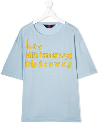The Animals Observatory logo print T-shirt