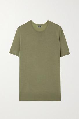Joseph Wool-blend Top - Green