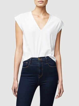Frame Le High Rise V Neck Tee