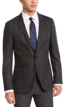 HUGO Boss Men's Classic-Fit Gray Plaid Sport Coat
