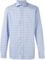 Z Zegna tiled pattern shirt