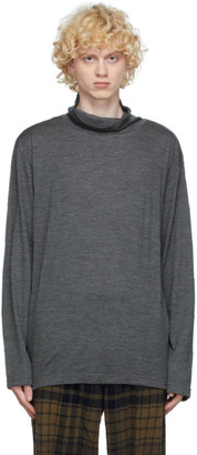 ts(s) tss Grey Wool Turtleneck