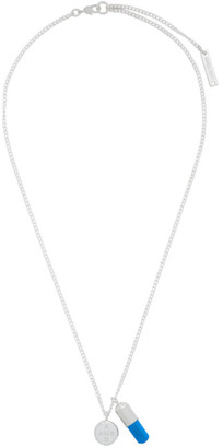 Ambush Silver and Blue Pill Charm Necklace