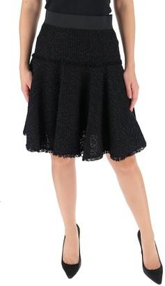 Dolce & Gabbana Frayed Hem Flared Skirt