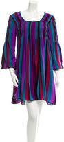Anna Sui Striped Silk Dress