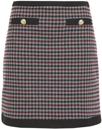 Claudie Pierlot Button-detailed Gingham Twill Mini Skirt