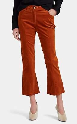 Derek Lam 10 Crosby Women's Velvet Crop Flared Trousers - Brown