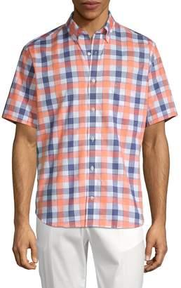 Tailorbyrd Yuri Cotton Check Sport Shirt