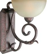 Talista 1-Light Black Cherry Sconce with Umber Mist Glass