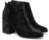 Senso Jaclyn Crushed Velvet Black Ankle Boot