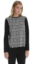 Leopard Knit Easy Sweatshirt