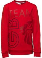 adidas Junior Team GB Crew Neck Sweat Vivid Red/Night Indigo