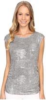 Calvin Klein Sleeveless Top w/ Shoulder Buttons