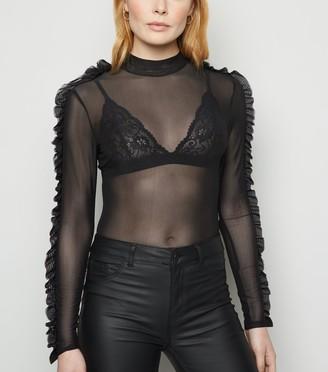New Look Mesh Frill Sleeve Bodysuit