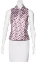 Miu Miu Sleeveless Jacquard Top