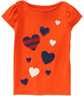 Gymboree Sparkle Hearts Tee