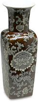AA Importing 17 Brown & Gray Floral Square Vase