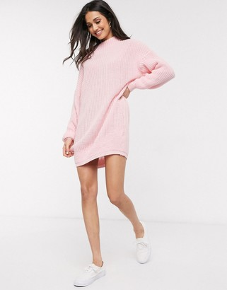 Daisy Street oversized jumper dress with high neck