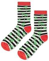 Striped glitter palm tree socks
